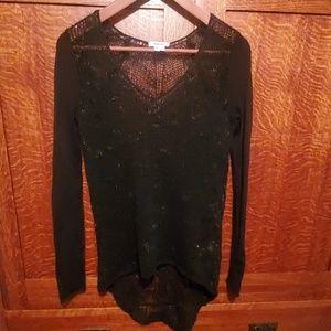 HELMUT LANG mesh soft long sleeved top